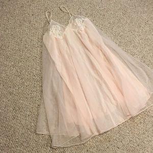 Pale pink vintage nightgown